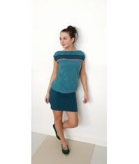 Shirt -ANK1- blau anker punkte weiß damen