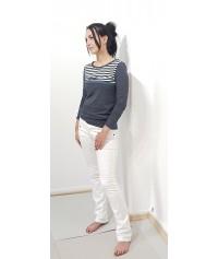 Iza Fabian, Rote, Elegante Bluse mit Rüschen und Schleife, Designer Shirt.