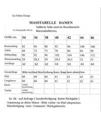 Iza Fabian, Geblümte Kleid in Blau und Grau. Rollkragen.